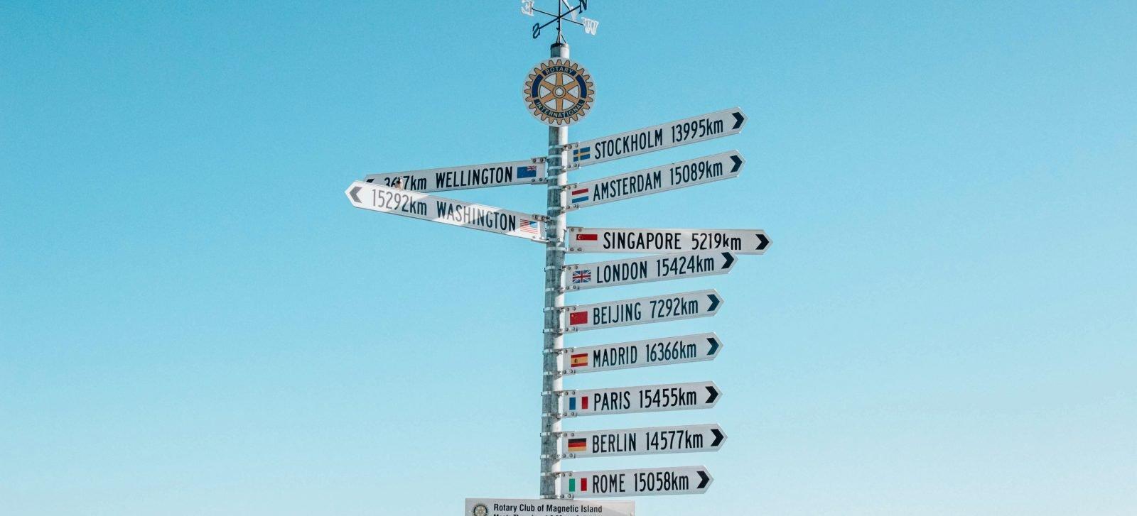 segnali per varie parti del mondo - dove va il marketing nel 2021